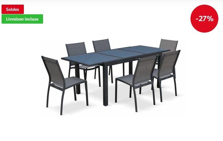 Salon De Jardin Table Extensible Orlando Pas Cher - Soldes avec Soldes Mobilier De Jardin