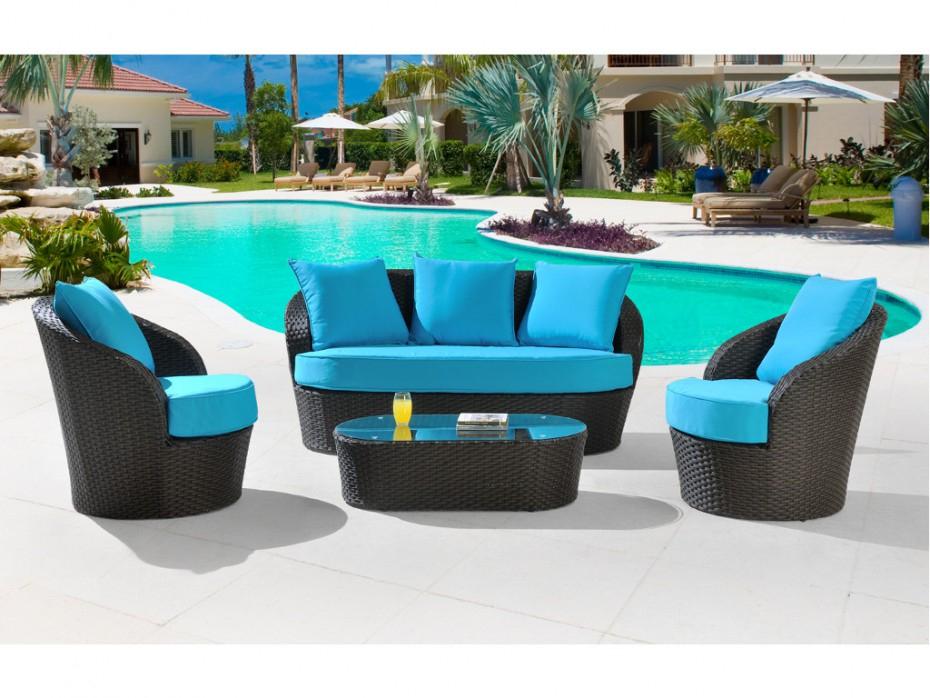 Salon Jardin Turquoise - Agencement De Jardin Aux tout Gifi Bahia
