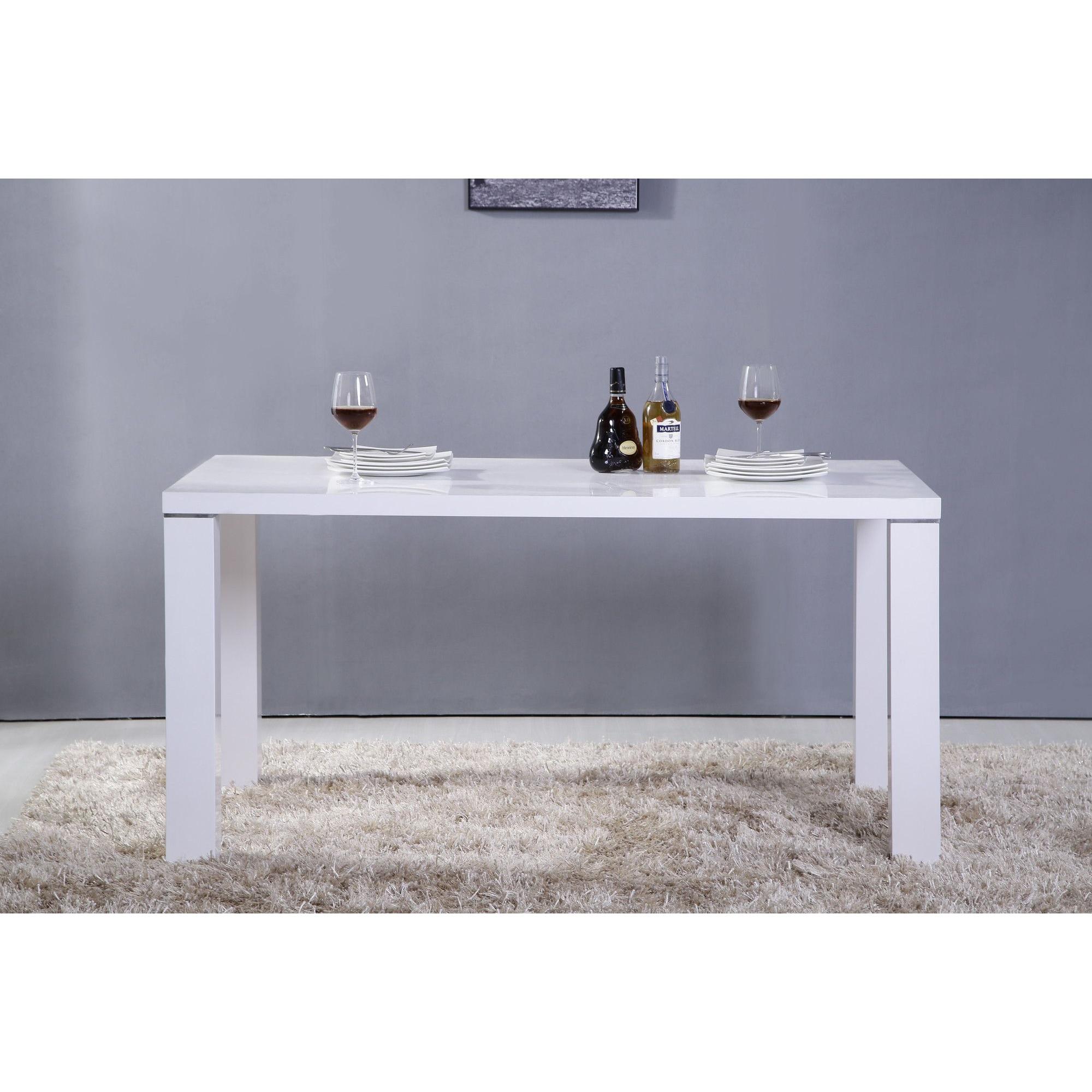 Salon - Table À Manger Design Laqué Blanc. Comforium tout Table A Manger Design