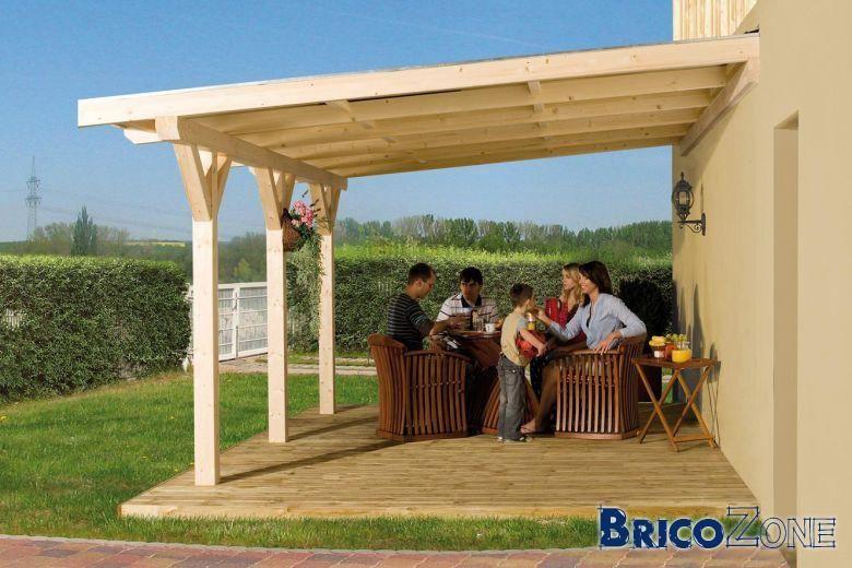 Sections De Bois Pour Pergola | Construire Une Pergola tout Construire Auvent De Terrasse En Bois
