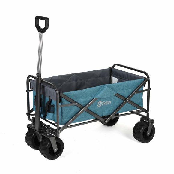 Sekey - Chariot De Jardin Pliable Chariot De Transport à Charrette De Jardin