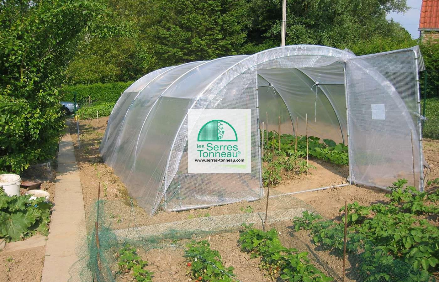 Serre Abri Legumes 4M00 X 6M00 - Serres Tonneau dedans Bache Pour Serre De Jardin