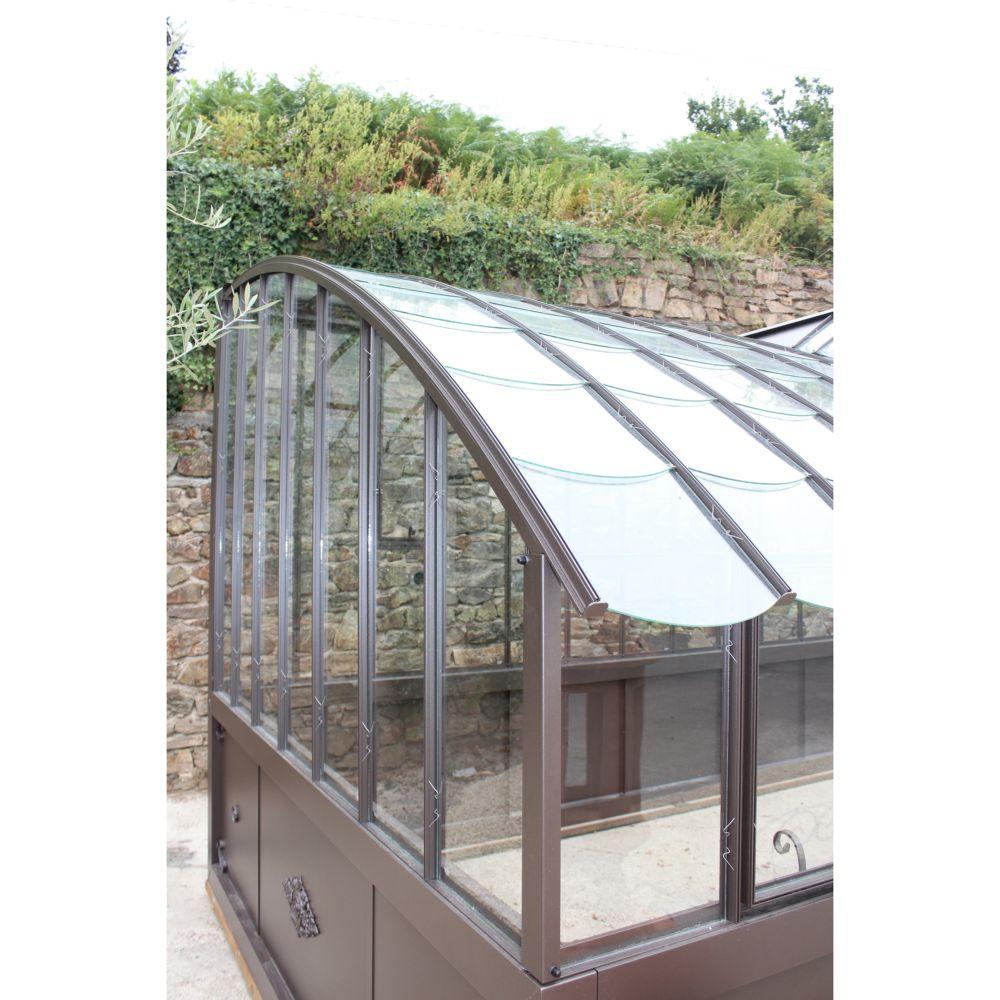 Serre Adossée Montesquieu En Verre Trempé 10.64 M² - Lams intérieur Serre De Jardin Adossée
