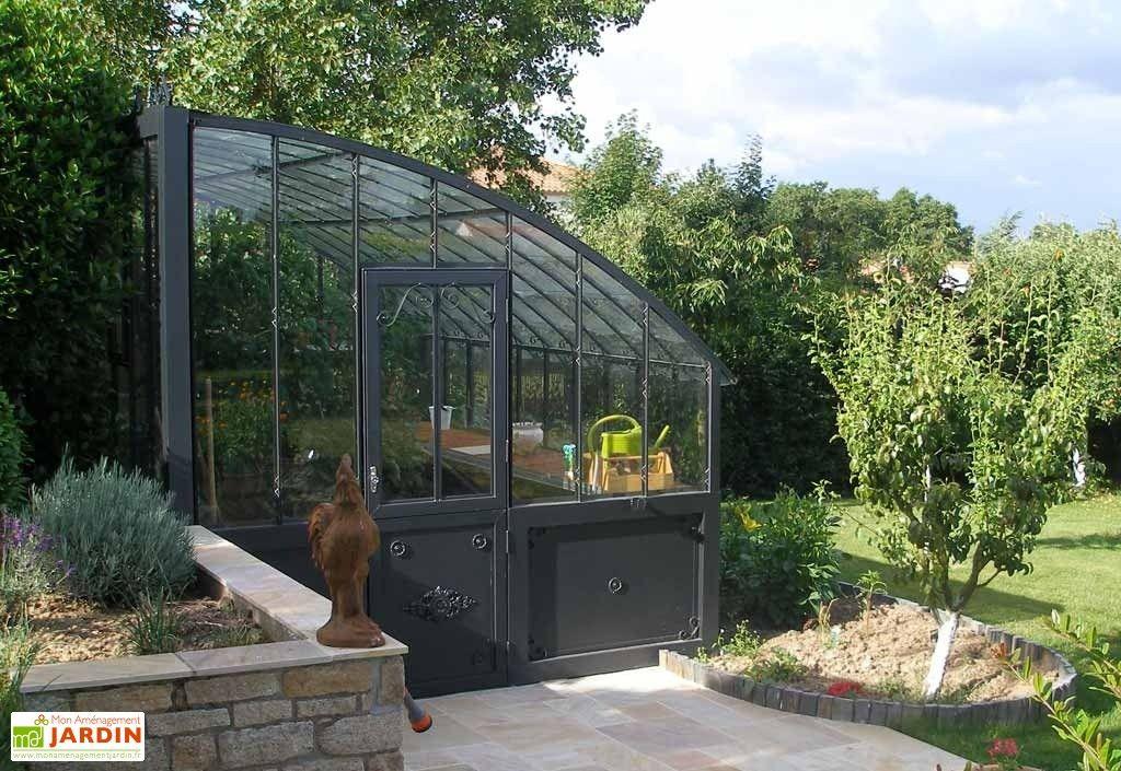 Serre Adossee Fabulous Garden Aluminium Gris Et Vert De 2 Pour Armature Serre De Jardin Occasion Agencecormierdelauniere Com