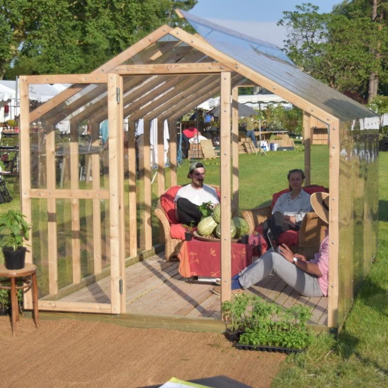 Serre Cléophée 10M² En Bois Et Polycarbonate Avec Montage dedans Serre De Jardin Jardiland