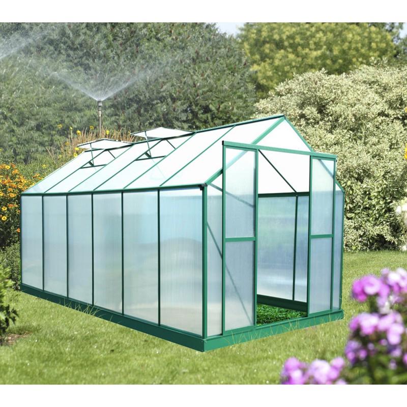 Serre De Jardin 12,8M² Polycarbonate 6Mm + Embase destiné Serre De Jardin Adossée