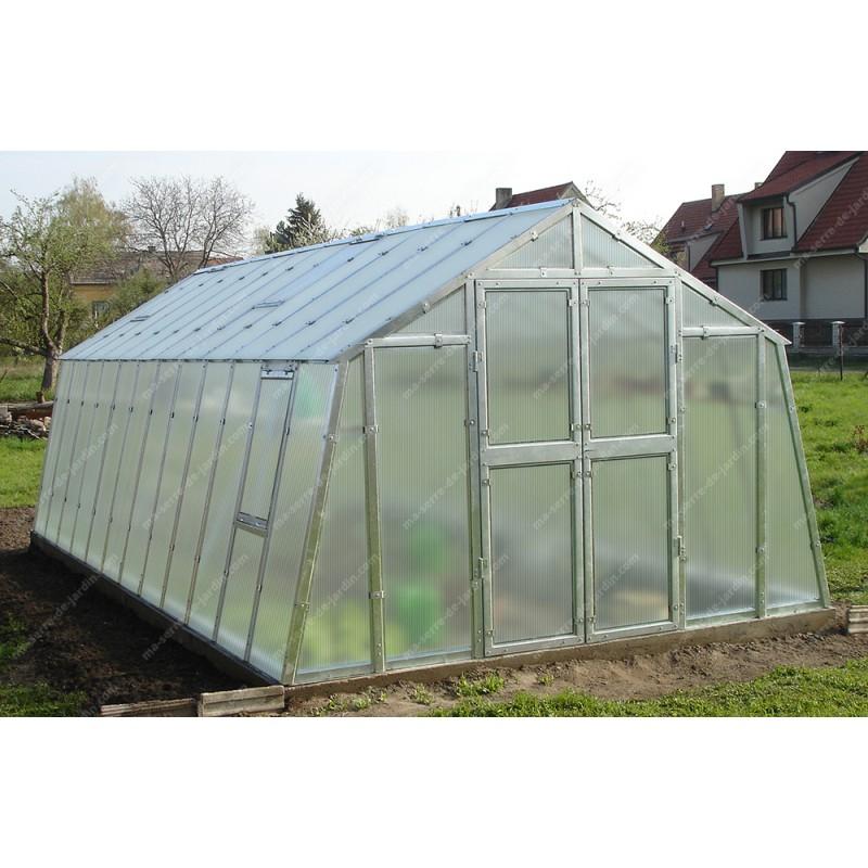 Serre De Jardin 303X601Cm 18,21M² En Polycarbonate 6Mm pour Serre De Jardin Jardiland
