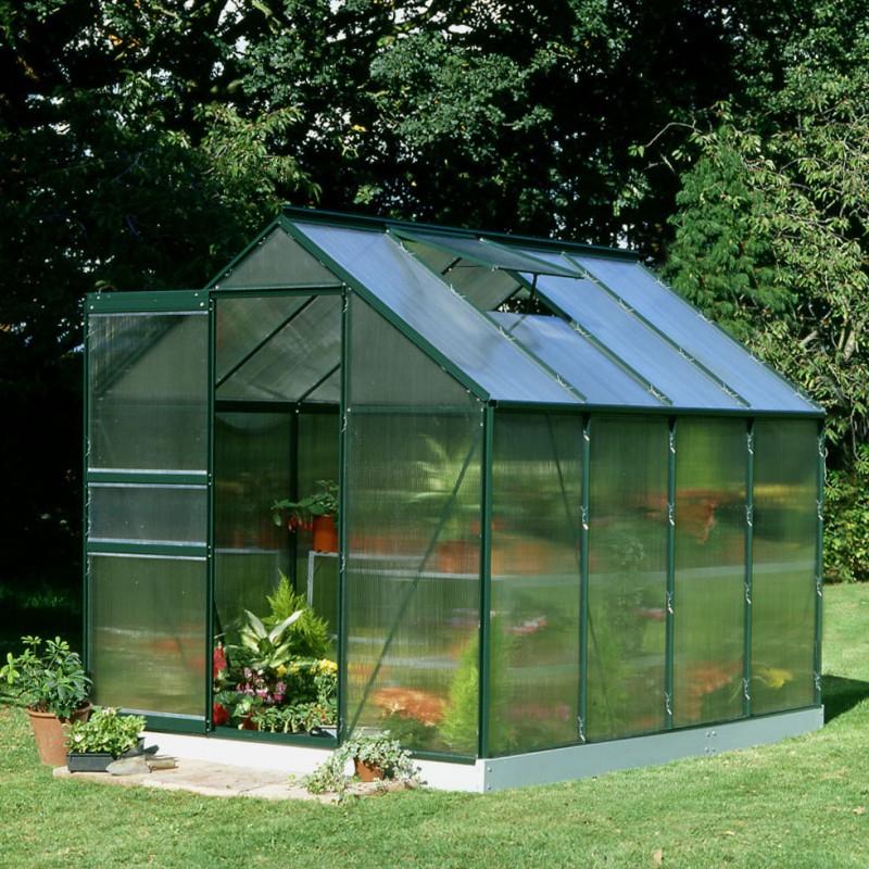 Serre De Jardin 5M² Verte En Polycarbonate 4Mm Popular Halls tout Serre De Jardin Jardiland