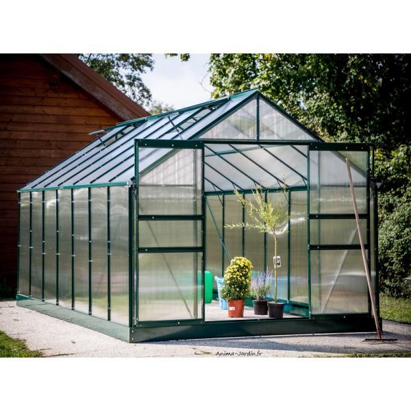 Serre De Jardin En Polycarbonate, Aluminium Vert, 10,37M² intérieur Serre De Jardin Jardiland