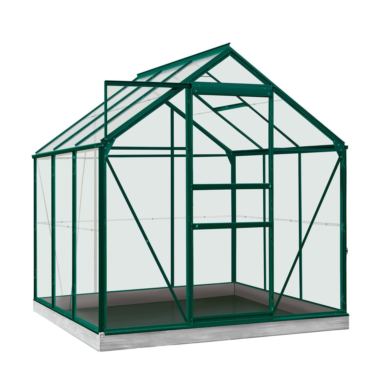 Serre De Jardin En Polycarbonate Simple Paroi Rainbow Vert encequiconcerne Serre De Jardin Leroy Merlin