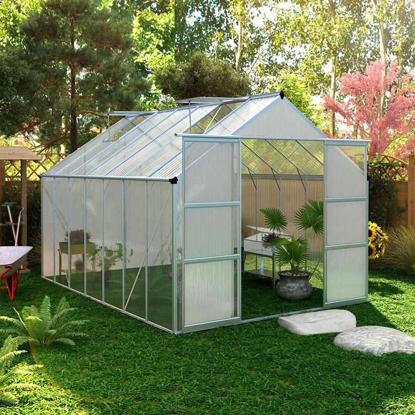 Serre De Jardin Polycarbonate 13M² - Oogarden France encequiconcerne Serre De Jardin Jardiland