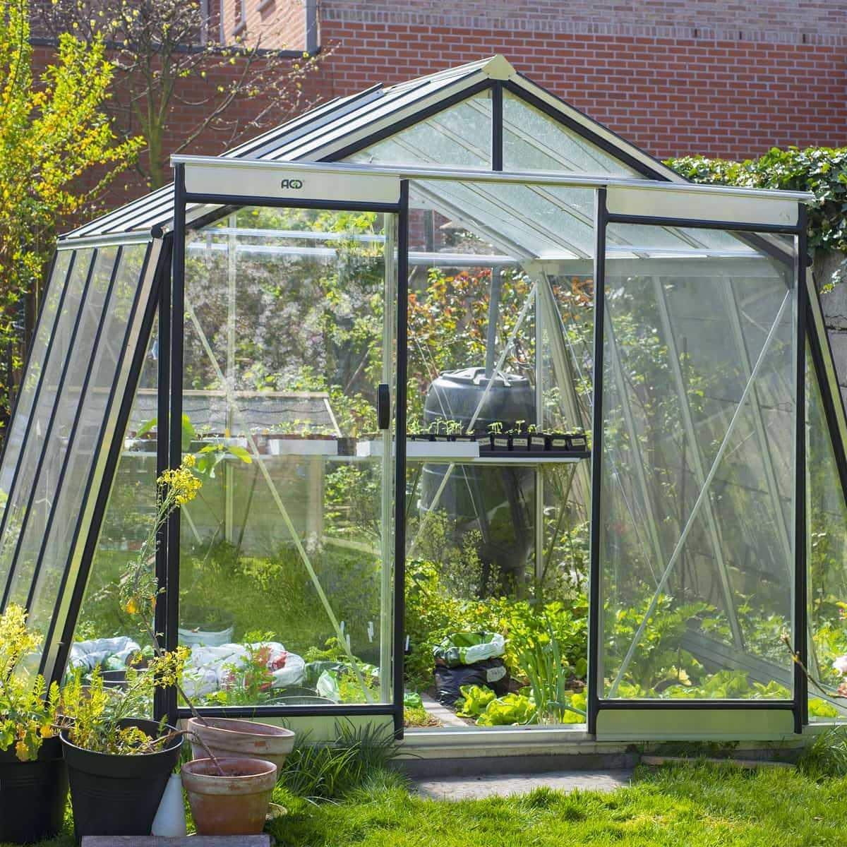 Serre De Jardin Prestige 9.12M2 Paroi Oblique S104H, Vente destiné Serre De Jardin Adossée