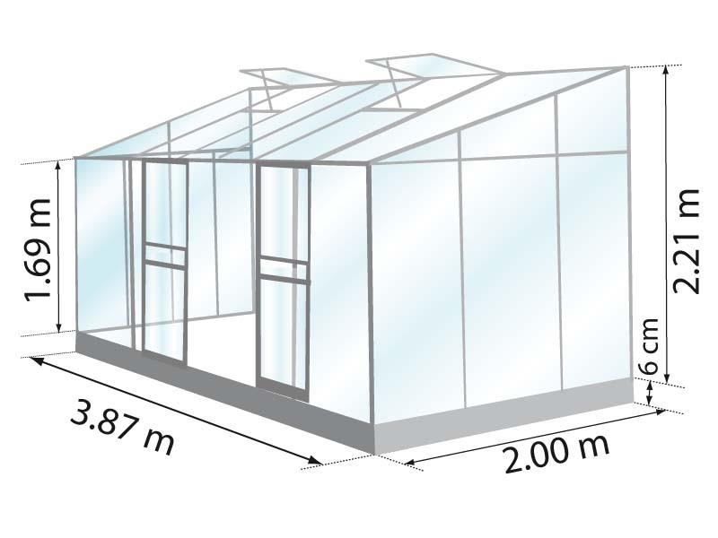 Serre En Verre Adossée Modèle Ida 7,8 M² À Petit Prix | Lams destiné Serre De Jardin Adossée