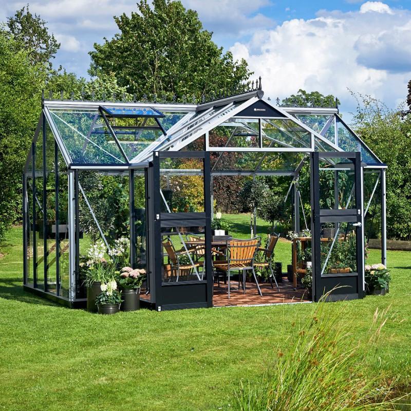 Serre Orangery Aluminium Et Verre Trempé 15,2M² Juliana pour Serre De Jardin Jardiland