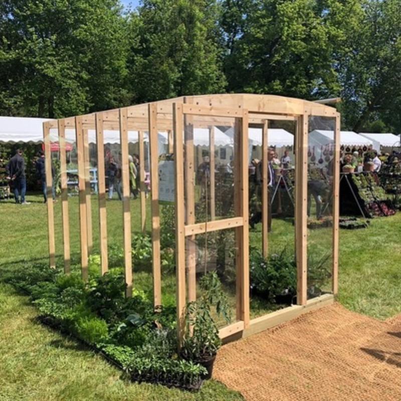 Serre Ulysse 6M² En Bois Et Polycarbonate Avec Montage Inclus à Serre De Jardin Adossée