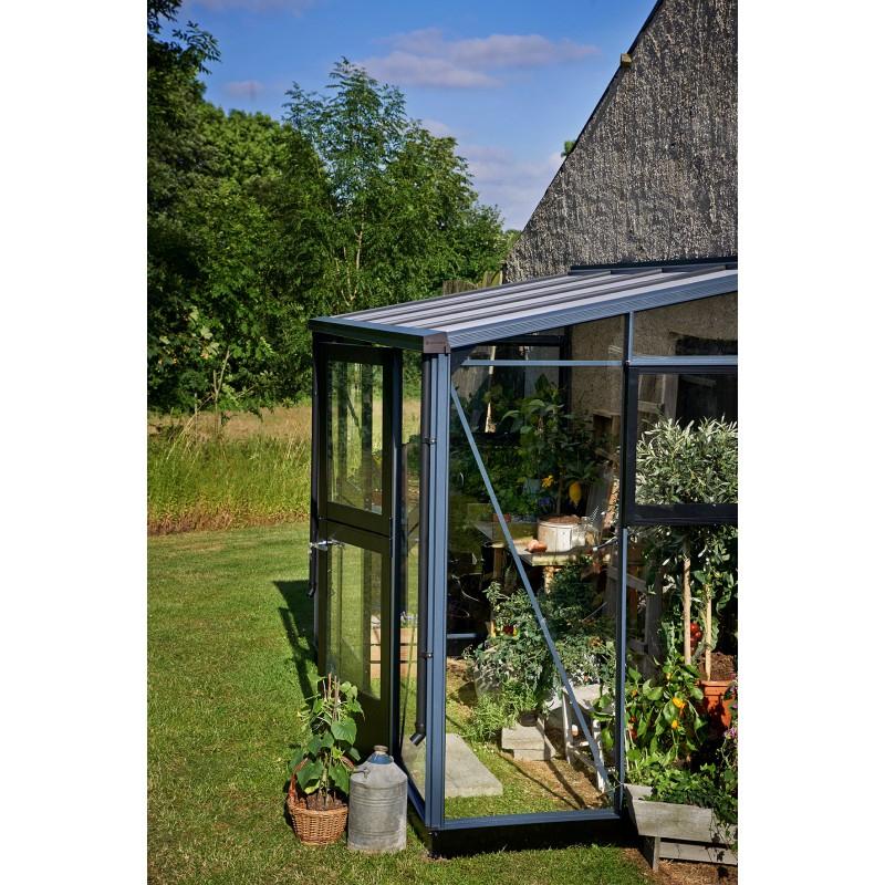 Serre Veranda Aluminium Et Verre Trempé 4,4M² Juliana tout Serre De Jardin Adossée