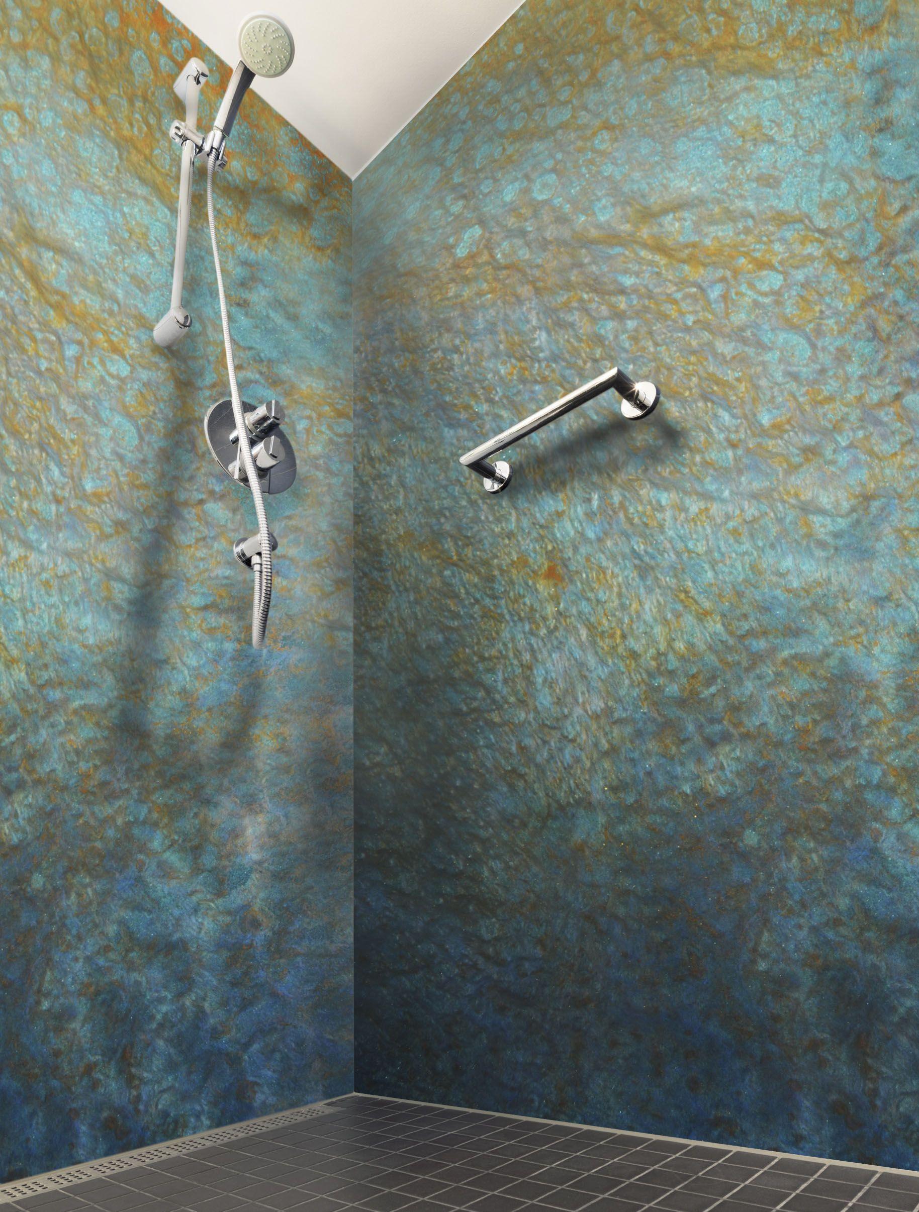 Shower Walls Built From Epoxy Poured Over Panels (Avec dedans Resine Epoxy Salle De Bain