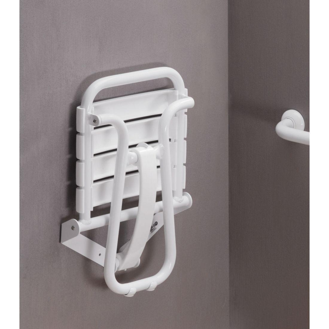 Siège De Douche Escamotable Avec Béquille Automatique tout Siège De Douche Escamotable