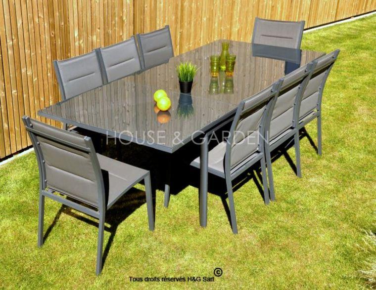 Solde Salon De Jardin Aluminium | Idées De Décoration tout Salon De Jardin En Soldes