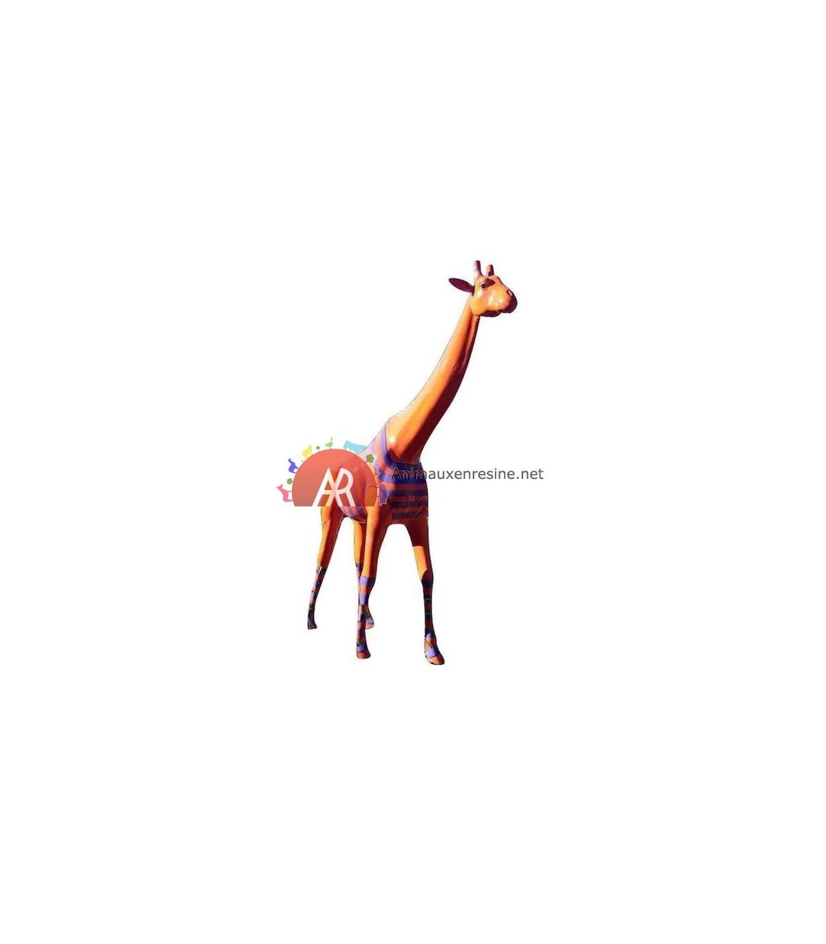 Statue Design Xxl Girafe En Résine Marinière pour Nain De Jardin Fuck