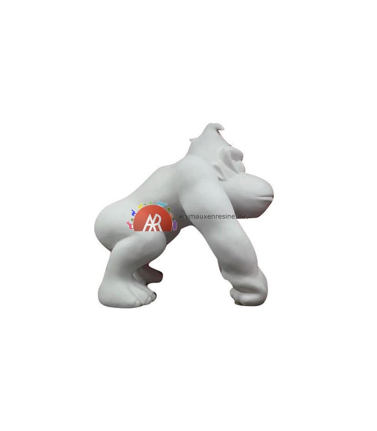 Statue Donkey Kong Grand Modèle En Résine Monochrome serapportantà Nain De Jardin Fuck
