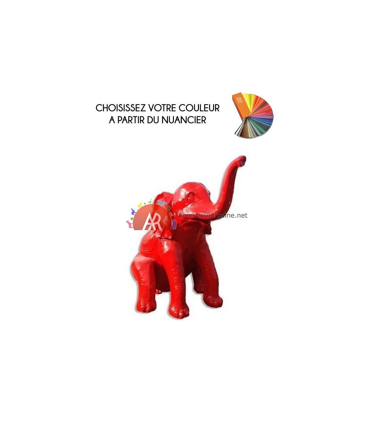 Statue Elephant Exterieur Assis Grand Modèle En Résine tout Nain De Jardin Fuck