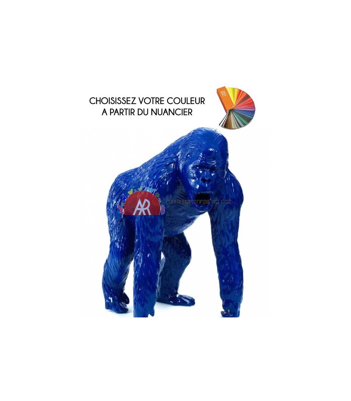 Statue Gorille Geant Debout En Résine Monochrome destiné Nain De Jardin Fuck