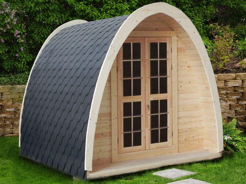 Studio, Bureau De Jardin - Modèle Igloo - Longueur 4M avec Abri De Jardin En Longueur