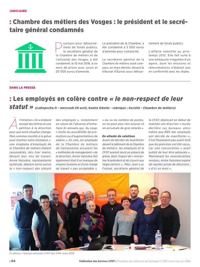 Supp Branche Cma Informaction Juin 2016 - Fichier Pdf pour Chambre Des Metiers Carcassonne