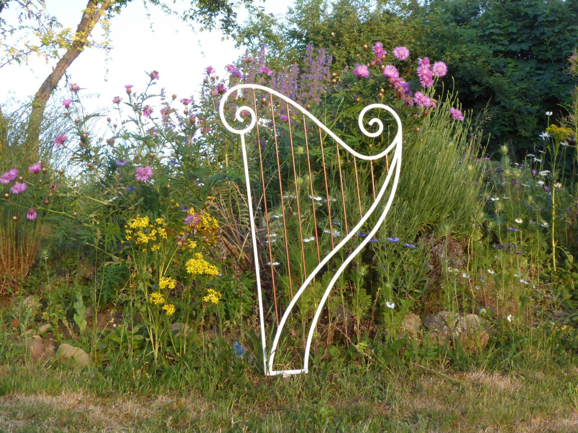 Sur Commande : Harpe En Fer Forgé Pour Décoration De destiné Décoration Jardin Fer Forgé