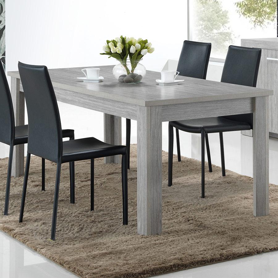 Table 190 Cm Pas Chère Couleur Chêne Gris Evora destiné Table Salle À Manger Design Pas Cher