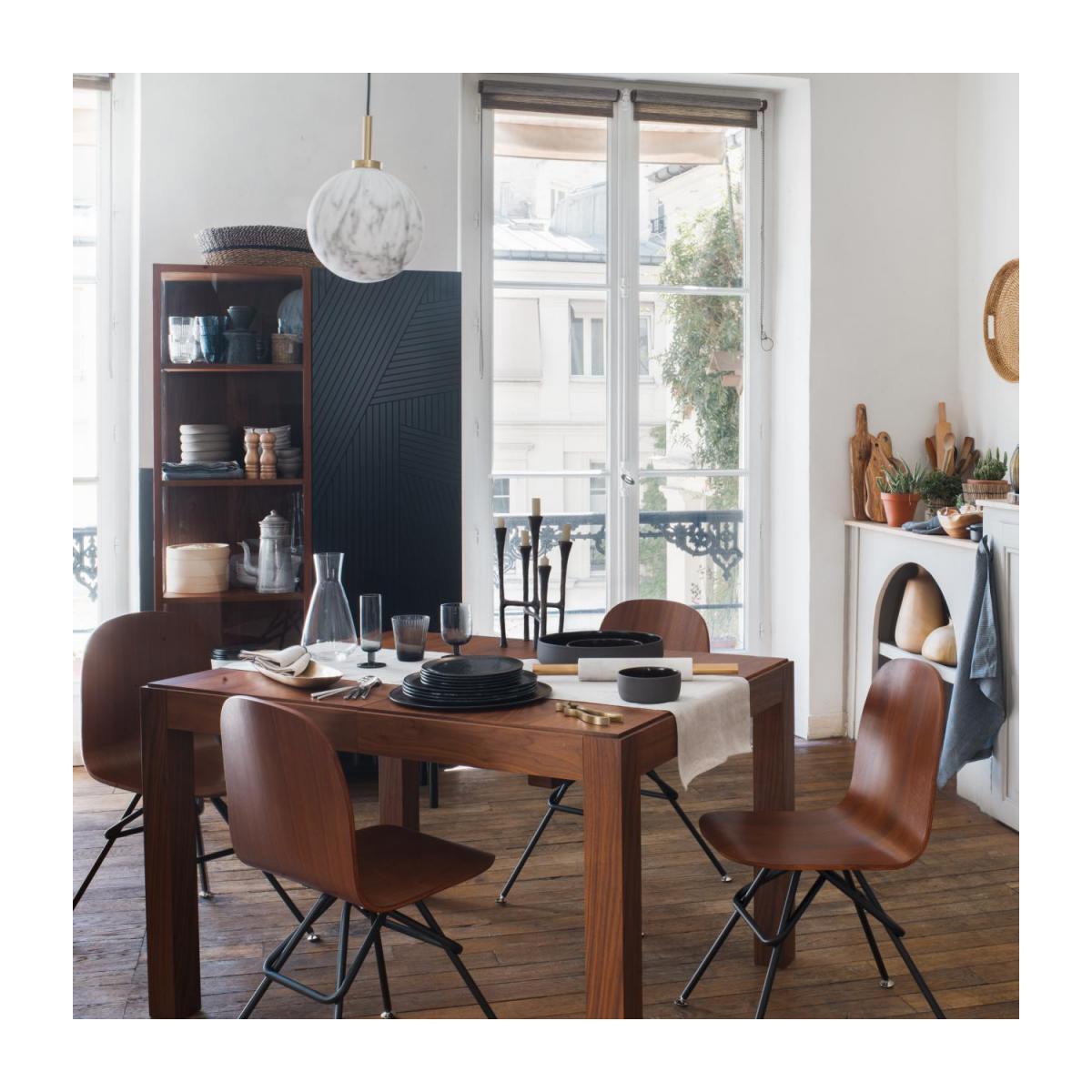 Table À Manger Avec Rallonges - Noyer concernant Table Salle À Manger Habitat