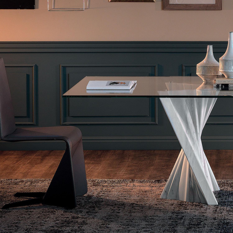 Table À Manger Design En Marbre Mystic - Idkrea Collection avec Table À Manger En Marbre
