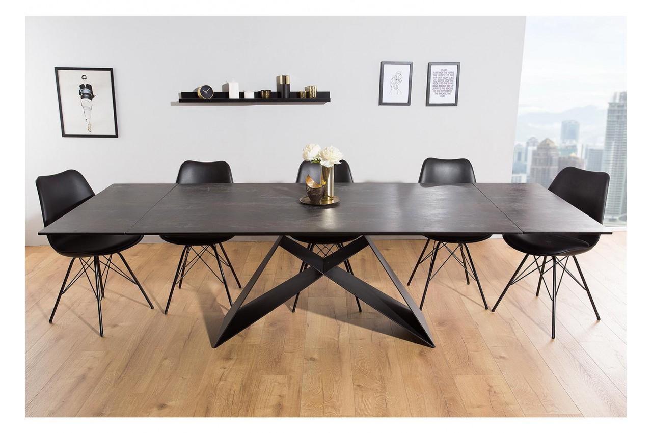 Table À Manger En Céramique Lave 180-260 Cm Et Pieds Métal avec Table Salle A Manger Plateau Ceramique