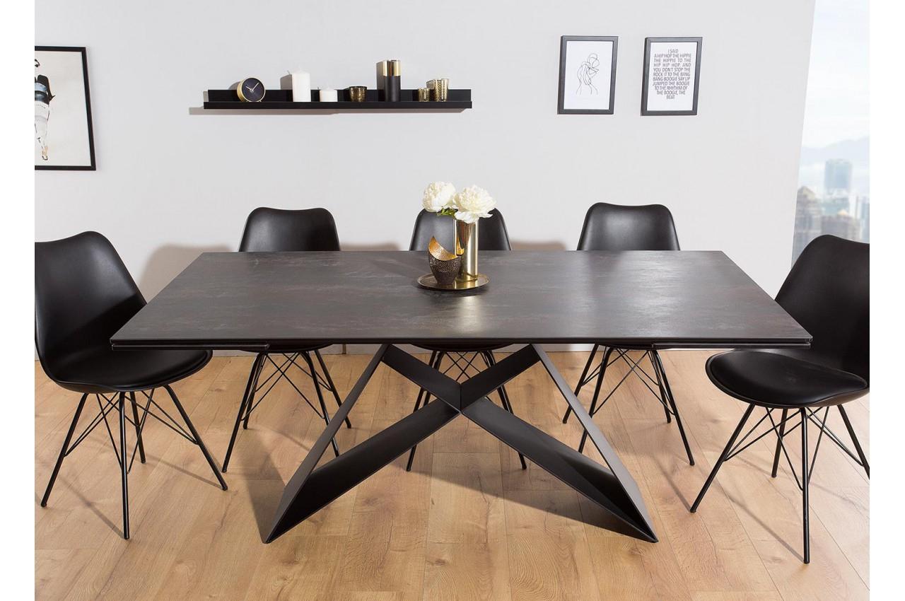 Table À Manger En Céramique Lave 180-260 Cm Et Pieds Métal intérieur Table Salle A Manger Plateau Ceramique