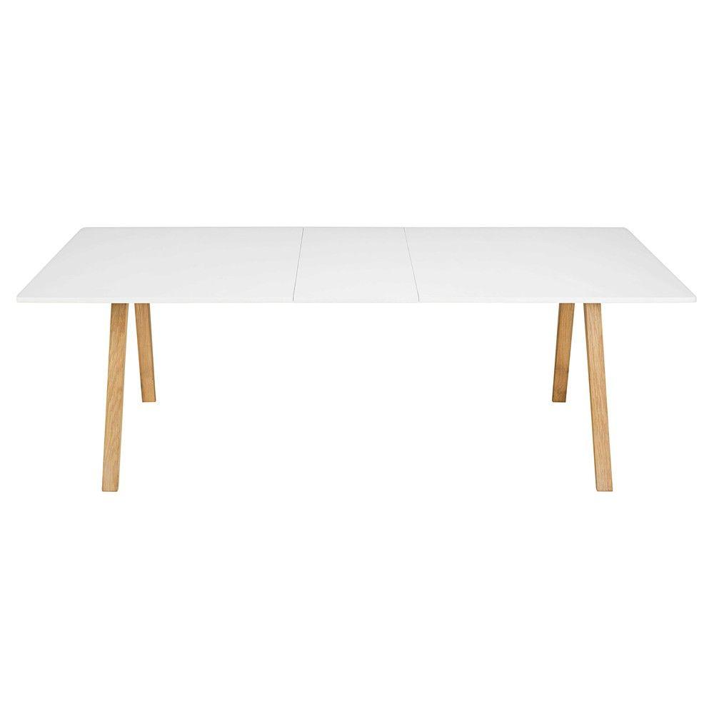 Table À Manger Extensible 8 À 10 Personnes Blanche L200/245 intérieur Table Salle A Manger Extensible Fly