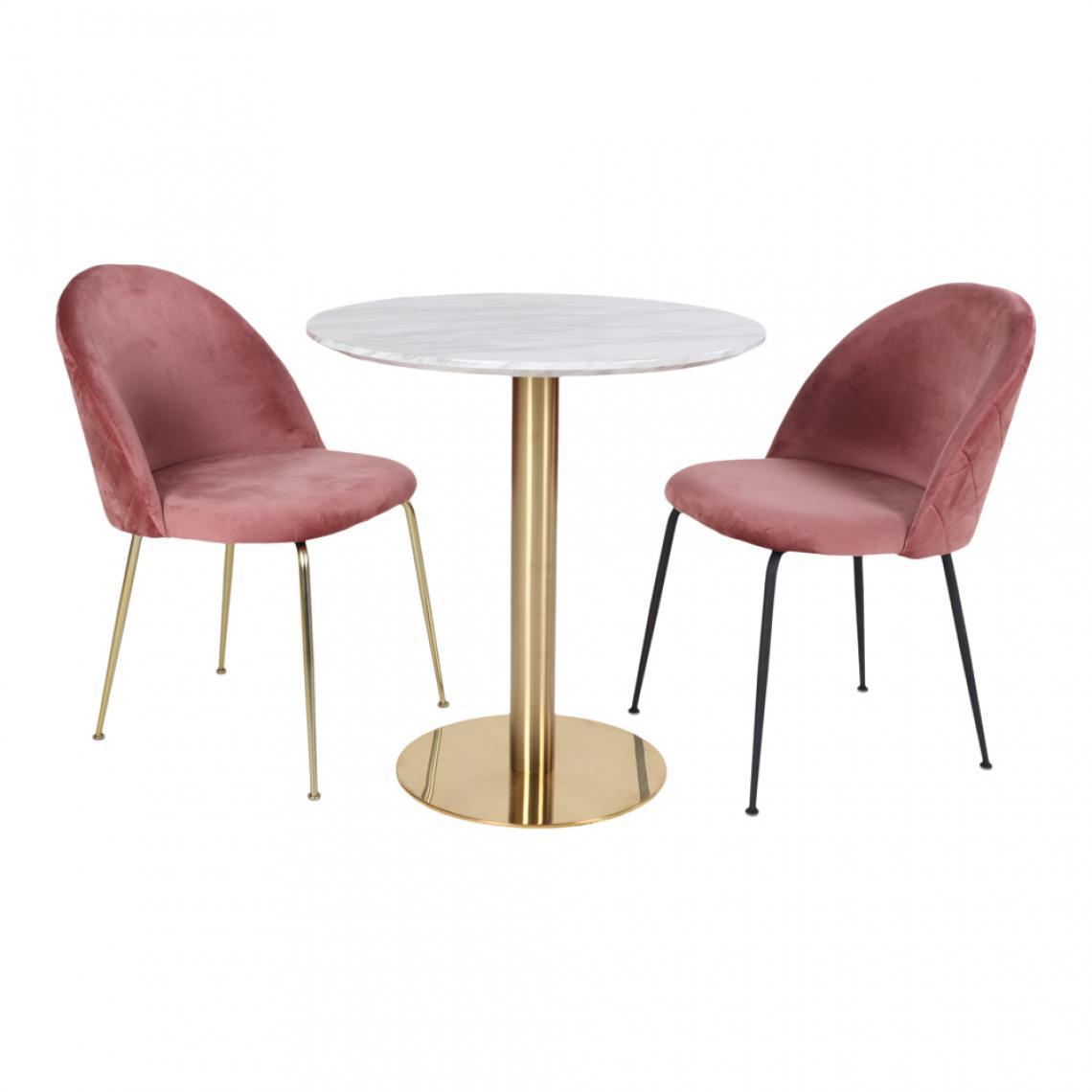 Table À Manger Ronde En Acier Imitation Marbre Couci Plus De Détails encequiconcerne Table Salle A Manger En Marbre