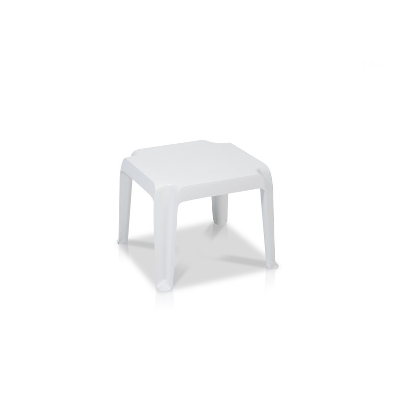 Table Basse 47 X 47 Cm Carla, Structure Blanc Vlaemynck pour Meuble Carla