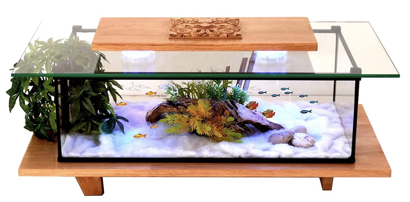 Table Basse Aquarium: Classement, Guide Achat & Avis à Aquarium