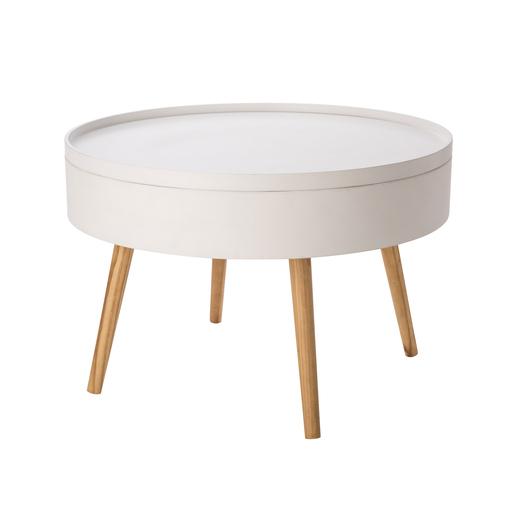 Table Basse Blanc - Meubles De Salon   La Foir'Fouille dedans Meuble Industriel Foir'Fouille