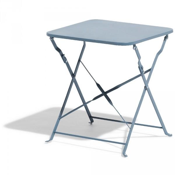 Table Basse Carrée Boston Pliante Bleu Orage - Table destiné Table De Jardin Gifi