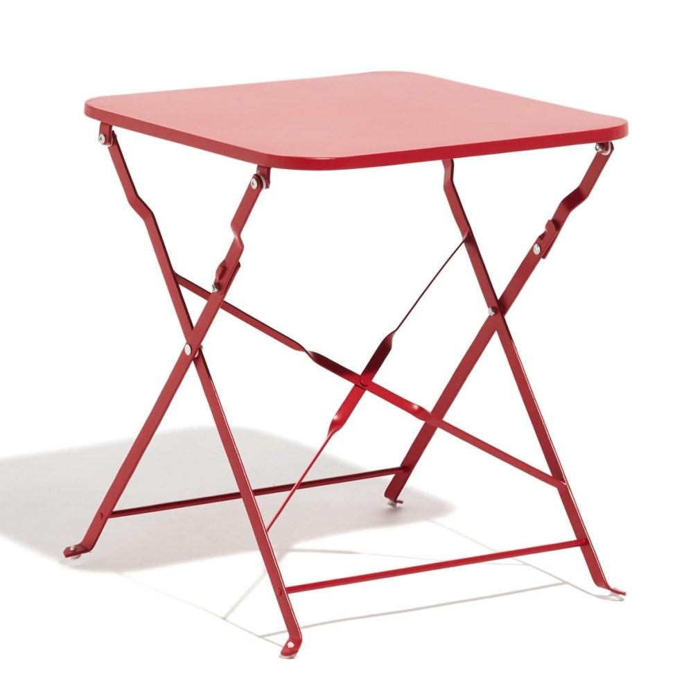 Table Basse De Jardin Carrée Métal Rouge - Table De Jardin concernant Table De Jardin Gifi