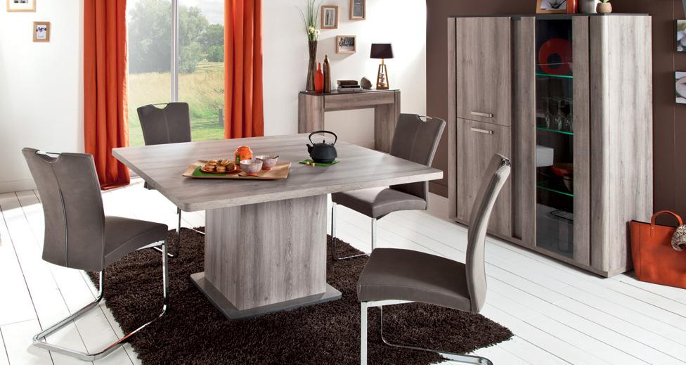 Table Carrée Landen - Table De Salle À Manger Conforama intérieur Table Salle A Manger Conforama