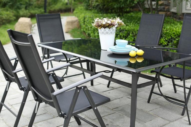 Table De Jardin 10 Personnes + 10 Chaises En Aluminium pour Table Jardin 4 Personnes