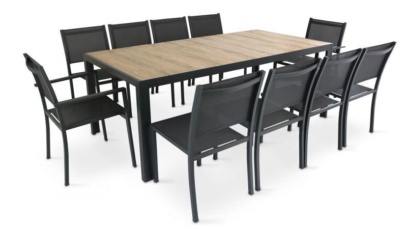 Table De Jardin 10 Places Aluminium Et Céramique | Oviala intérieur Table De Jardin Aluminium Jardiland