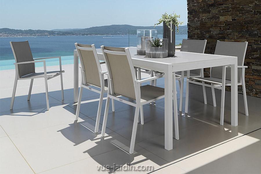 Table De Jardin 200Cm Extensible À 300Cm En Aluminium Et destiné Table De Jardin Aluminium Jardiland