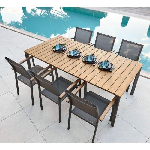 Table De Jardin 6/8 Personnes En Composite Et Aluminium serapportantà Table De Jardin Aluminium Jardiland
