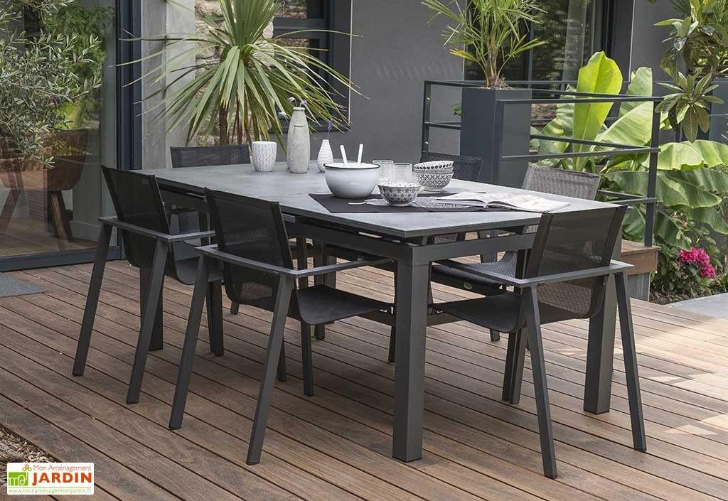 Table De Jardin Avec Rallonge Miami Aluminium Et Verre 180 tout Table De Jardin Aluminium Jardiland