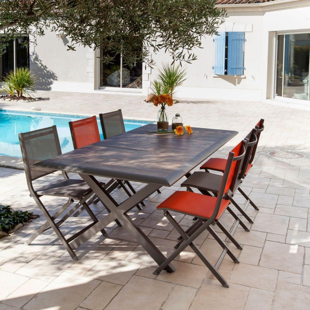 Table De Jardin Ceram Aluminium/Plateau Céramique Café concernant Table De Jardin Aluminium Jardiland