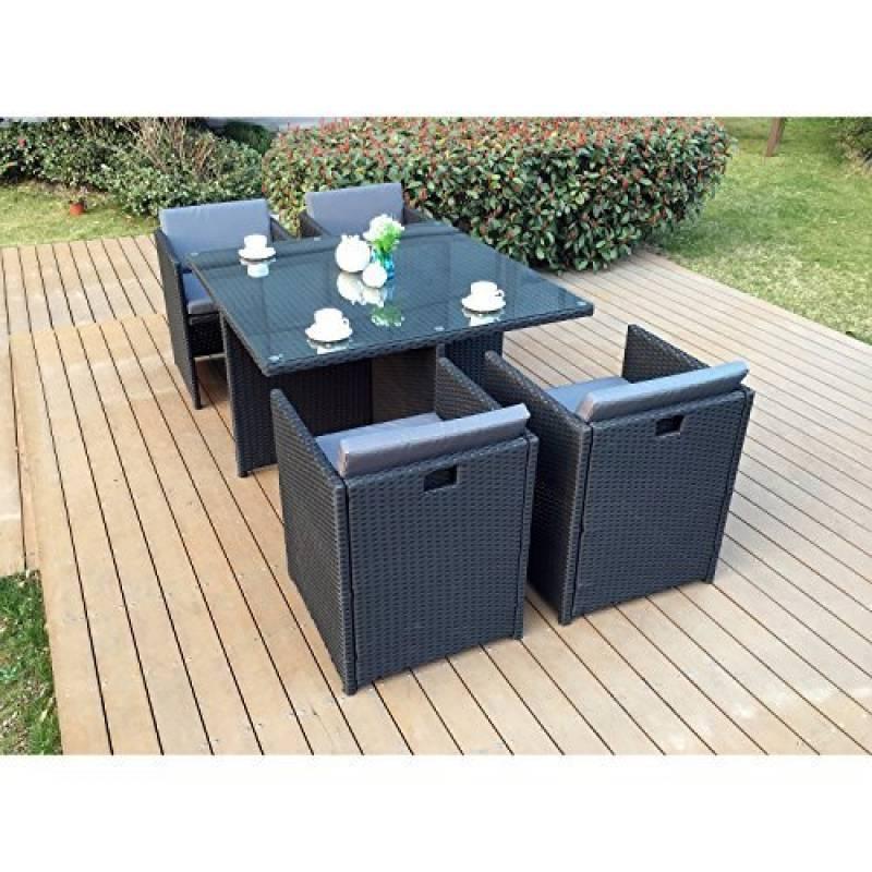 Table De Jardin Chaise Encastrable, Acheter Les Meilleurs pour Table Jardin 4 Personnes